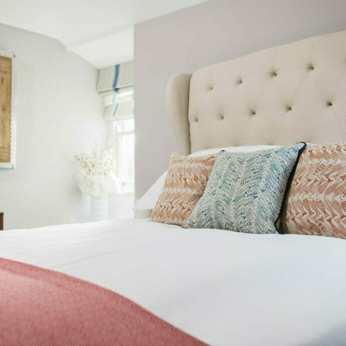 Fishermans Cottage St Ives Master Bed Camellia Interiors