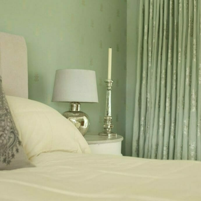 Mylor Private Residence Bedroom Curtains Camellia Interiors