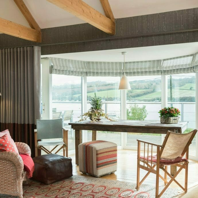 Mylor Private Residence Curtains Camellia Interiors