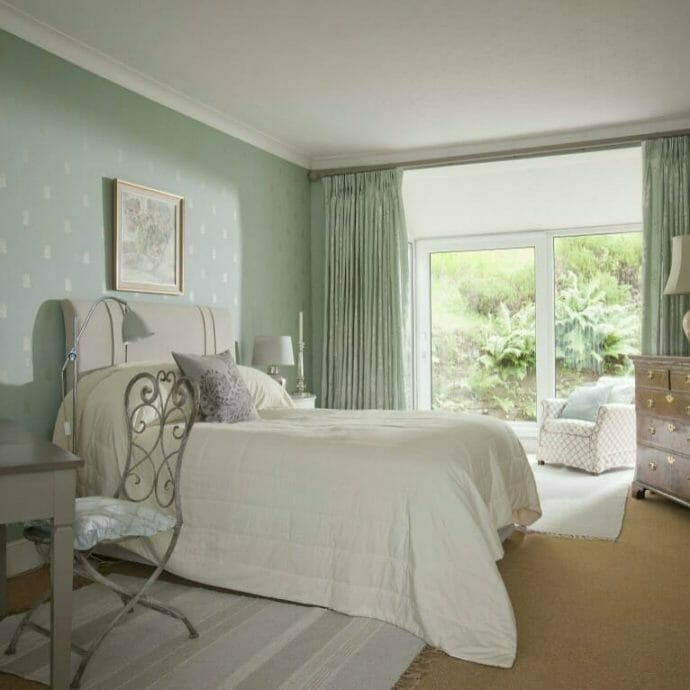 Mylor Private Residence Guest Bedroom  Camellia Interiors