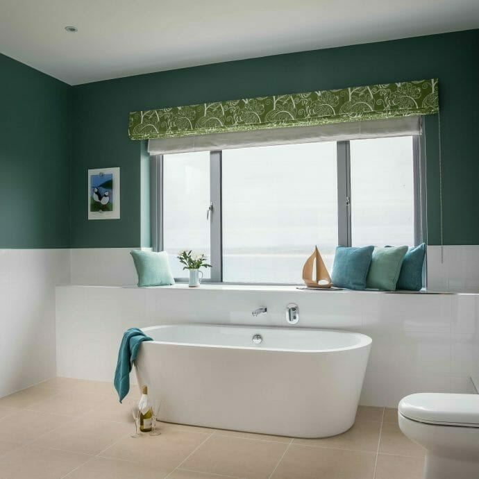 Little Greene Pleat for St Ives Bathroom