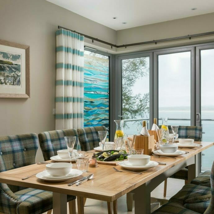 St Ives Sea View Dining Area with Camellia Furniture